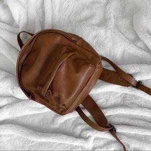 Handbags - Mini Pleather Backpack